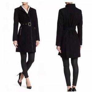 Vince Camuto Wool Blend Coat Black Medium